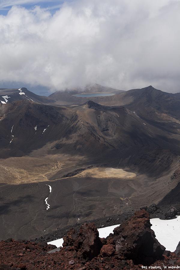 Vue du sommet sur les cratères