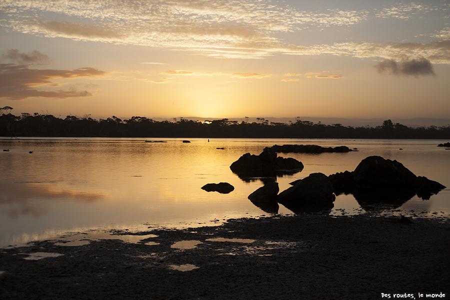 Coucher de soleil sur le parc de Freycinet
