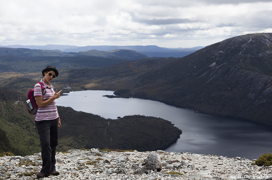 Céline à Cradle Mountain