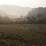 Lever de soleil sur la vallée