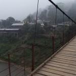 Pont suspendu à Muong Khua