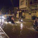 Inondation dans la rue