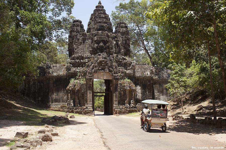La porte de la victoire d'Angkor Thom