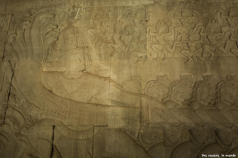 Bas-relief à Angkor Vat