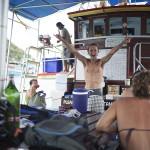 Marco au bateau