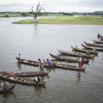 Pêcheurs traditionnels à U Bein bridge