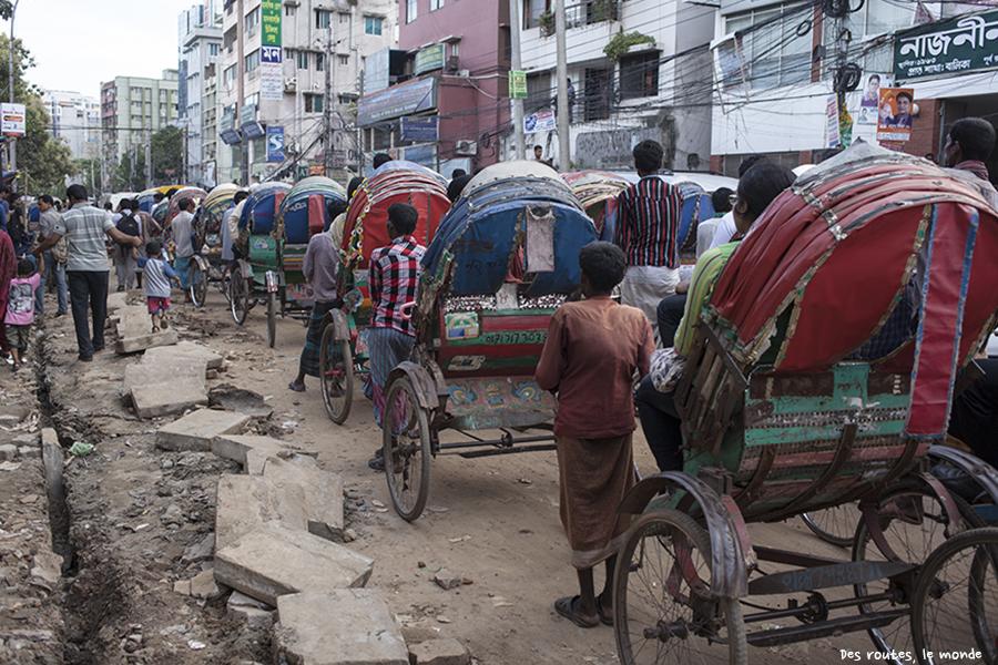 Un embouteillage bangladais