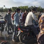 Beaucoup de motos sur la plage