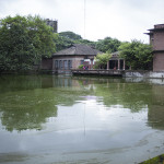 Les bâtiments principaux de Banchte Shekka