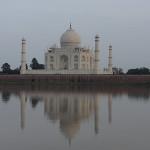 Fin du jour sur le Taj Mahal