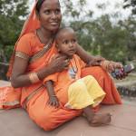 Une mère pèlerin et son bébé