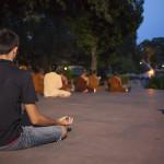 Kélig en pleine méditation
