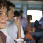 Émilie dans le train