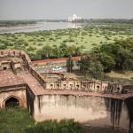 Vue du fort sur le Taj