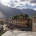 Vue de la guesthouse à Kaza