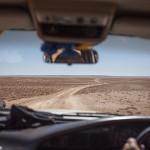 Dans la jeep
