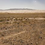 Le début des dunes de Khongoryn Els