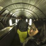 Dans le métro moskovite