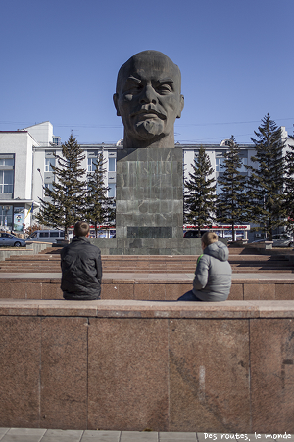 Oulan-Oude et la grosse tête de Lénine