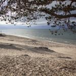 Le Baikal et la plage