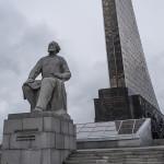 Konstantin Tsiolkovsky et le monument aux conquérants de l'espace