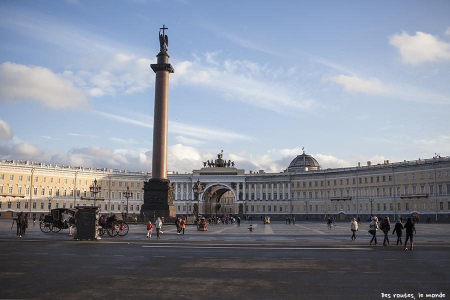 Place du Palais et colonne Alexandre