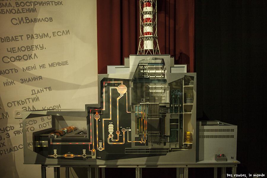 La maquette du réacteur n°4